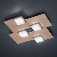 BANKAMP Quadro LED ceiling light 32 W rose gold