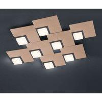 BANKAMP Quadro LED ceiling light 64 W rose gold