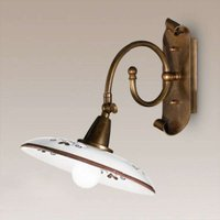 Rustic Bassano wall light brown