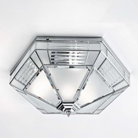 Giana hexagonal ceiling light  chrome