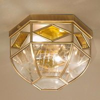 Emilia   ceiling light with cathedral glass