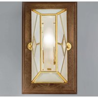 Cordana   square wall lamp with wooden frame