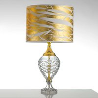 Gold coloured Belle Epoque table lamp w glass base