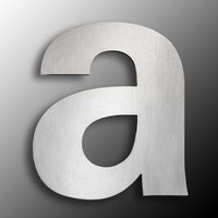 Large Stainless Steel House Numbers   Letter a