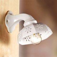 White SCODELLINA ceramic wall light