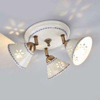 NONNA ceiling light  made of white ceramic  3 bulb