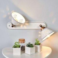2 bulb NONNA wall light  made of white ceramic