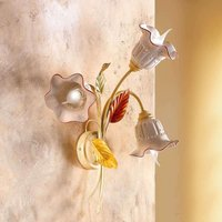3 bulb Flora wall light with a Florentine style