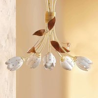 5 bulb floral TULIPANO hanging light