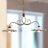 ROSOLACCI hanging light with ceramic shades 2 bulb