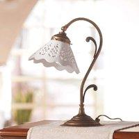 Semino table lamp with ceramic lampshade