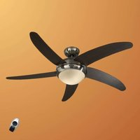 Modern ceiling fan Elica  chrome and wenge