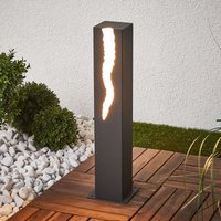 El Rayo LED pillar light with unilateral light