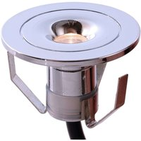 Small  chromed built in LED lamp Punto Lumi