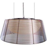 Round Filo Sat pendant lamp in silver