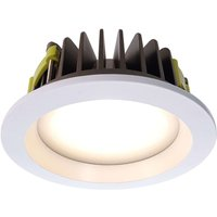 Round COB170 LED recessed ceiling light warm white