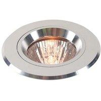 Silver coloured aluminium recessed light  fixed