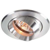 Pivotable alu recessed light    8 2 cm  alu