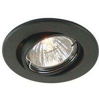 Pivotable low volt 68 recessed light  matt bl