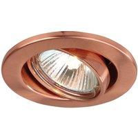Pivotable low volt recessed light 68  copper