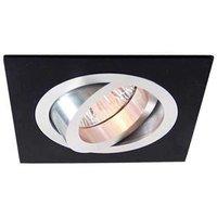 Low voltage aluminium black recessed light