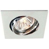 Discrete chrome ceiling recessed light  6 8 cm