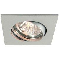 Discreet matt silver ceiling recessed light 6 8 cm