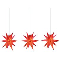 Star 18 pointed string lights  3 bulb  red