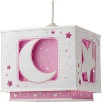 Fluorescent pendant light NACHTHIMMEL pink