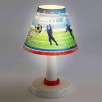 Children s room table lamp Football