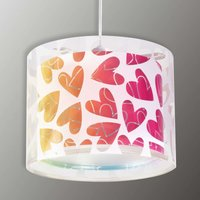 Children s hanging light Cuore with hearts
