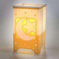 Fluorescent table lamp Stars in orange