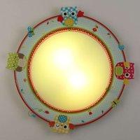 Sweet ceiling lamp Buhos with owl motif