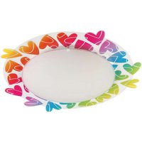 2in1 Cuore children s ceiling light with hearts