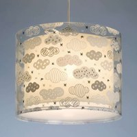 Hanging light Clouds for children s rooms  grey