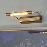 Battery powered Tommy LED picture light  brass