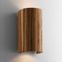 Beautiful Wall Light Tube Zebra Wood 17 5 cm