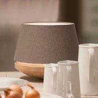 Oak wood and linen   table light Kjell  iron