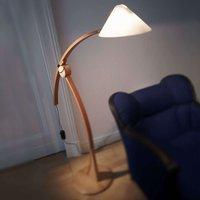 Pollo E27 floor lamp in beech  dimmable