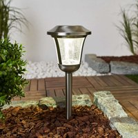 Levi   LED solar light with glass lampshade