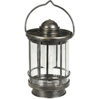 Decorative LED table lamp with glass lampshade