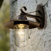 Milton I Outside Wall Light Antique Brown
