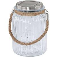 Decorative LED solar light Lea  jar shape