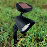 LED solar ground spike light Ludo  black