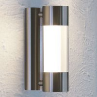 Robledo LED outdoor wall light in stainless steel