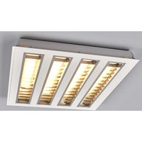 LED louvre troffer light w  four louvres  3 000 K