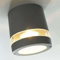 Focus bright exterior ceiling light  anthracite