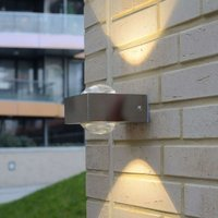 Stainless steel Crystal ext  wall light with LED