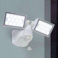 2 bulb Peri LED outdoor wall lamp w  motion sensor