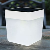 Trendy Table Cube LED solar table lamp in white